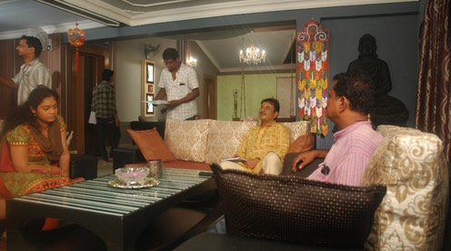Director Kapilas Bhuyan briefs Manishita, the debutant female lead and Dr. Chitta Mishra